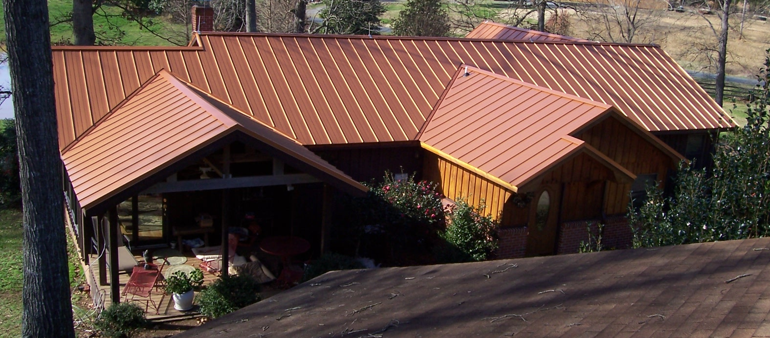 Image Copper Standing Seam Metal Roof Download